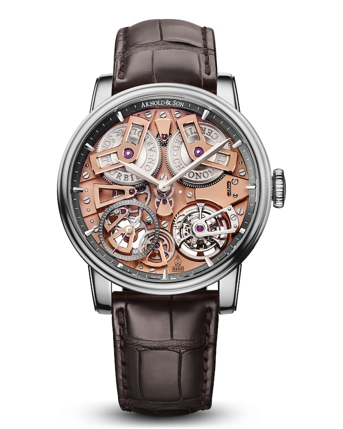 Arnold & Son Tourbillon Chronometer no. 36 dial side watch