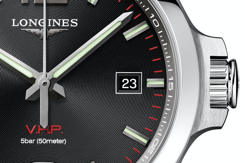 Longines VHP dial and date window