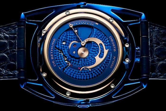 De Bethune DB28 Kind Of Blue Tourbillon Meteorite movement