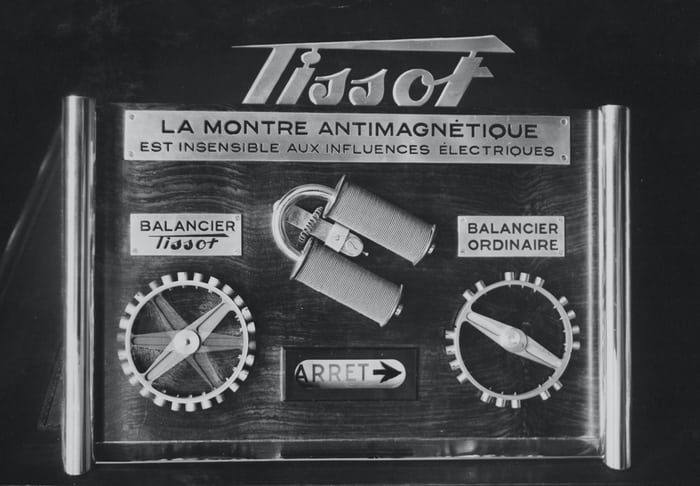 tissot antimagnetic balance ad