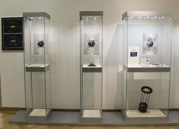 Antimagnetic watch exhibit, Omega Museum, Bienne.