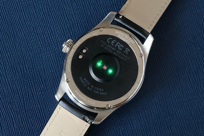 Montblanc Summit smartwatch heart rate sensor