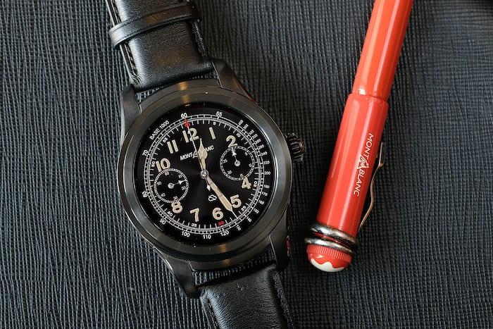 Montblanc Summit smartwatch chronograph 1858