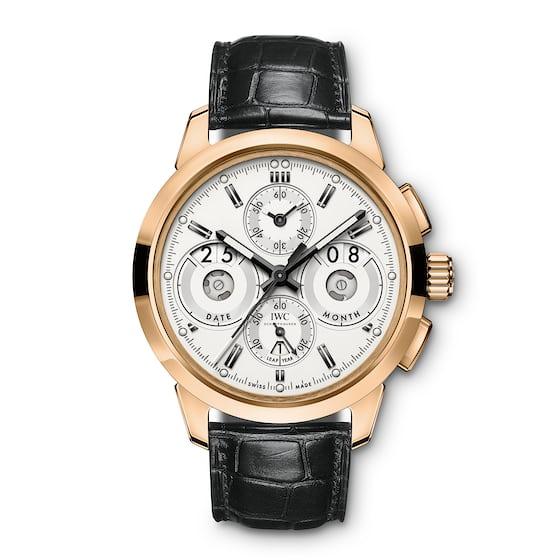 iwc ingeniuer chronograph gold case white dial perpetual calendar 2017