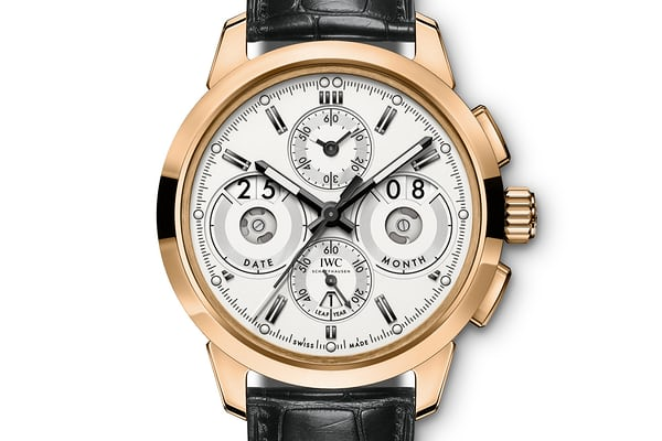 iwc ingeniuer chronograph gold case white dial perpetual calendar 2017