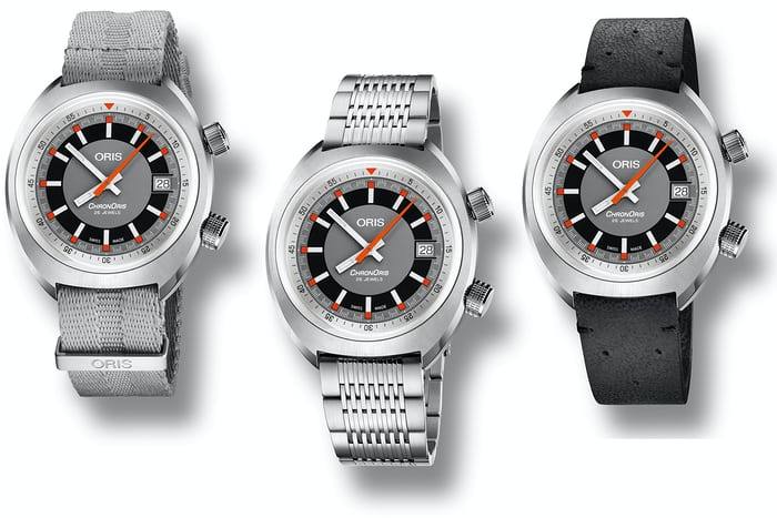 oris chronoris date strap bracelet