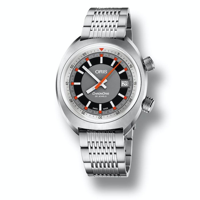 oris chronoris date steel bracelet