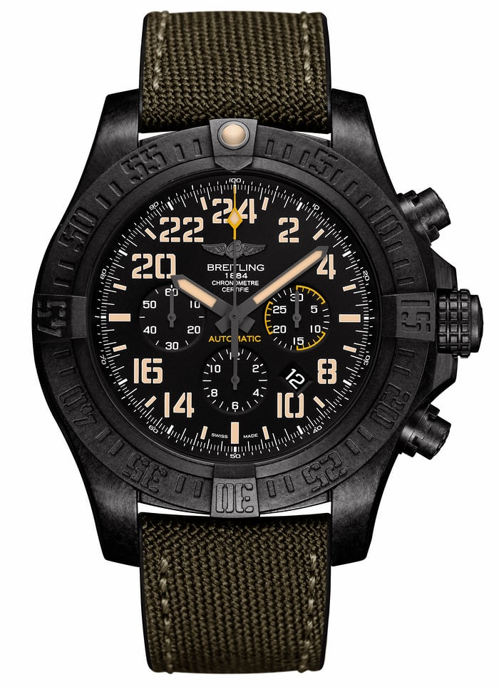 The Breitling Avenger Hurricane Military.