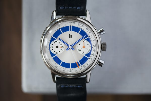 Lip blue chronograph