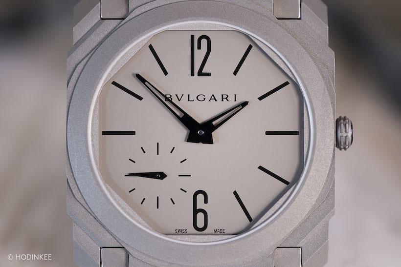 Bulgari Octo Finissimo Automatique dial closeup