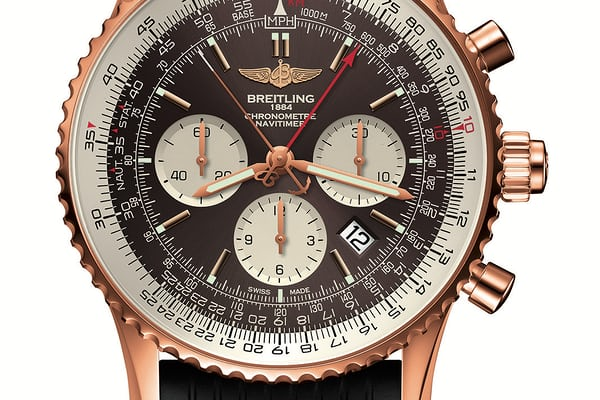 breitling navitimer rattrapante b03 red gold