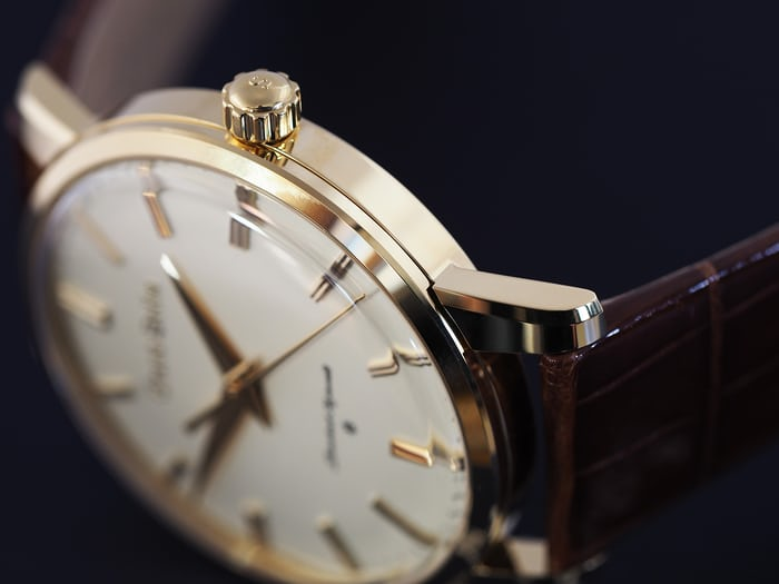 Grand Seiko SBGW252 case flank and crown