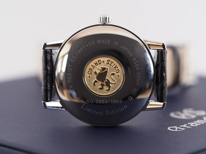 Grand Seiko SBGW253 caseback and medallion