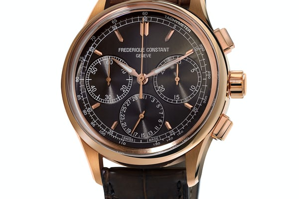 frederique constant flyback chronograph rose gold