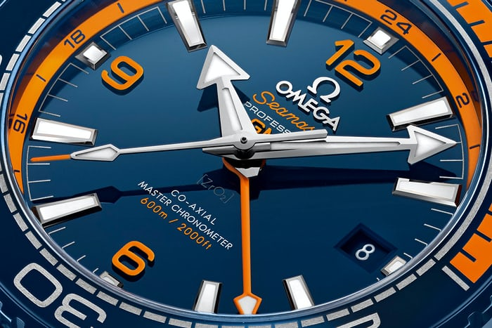 Seamaster Planet Ocean Big Blue dial details