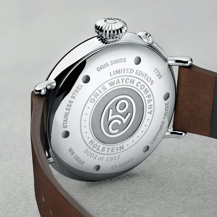 Oris Big Crown 1917 caseback