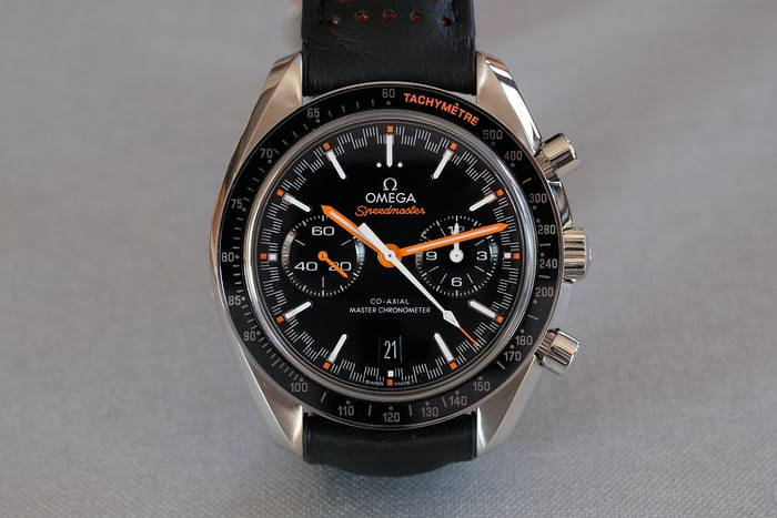 The  Omega Speedmaster Racing Master Chronometer.