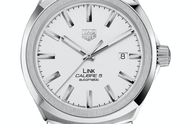 tag heuer link silver dial