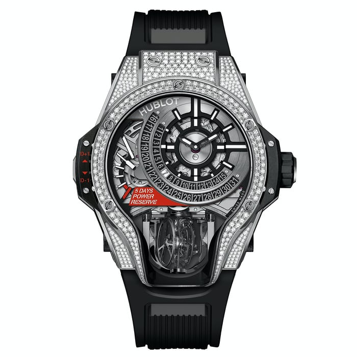 MP-09 Tourbillon Bi-Axis titanium diamonds