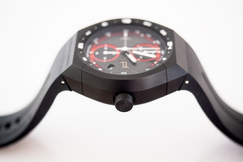 Porsche Design Monobloc Actuator GMT Chronograph rocker detail