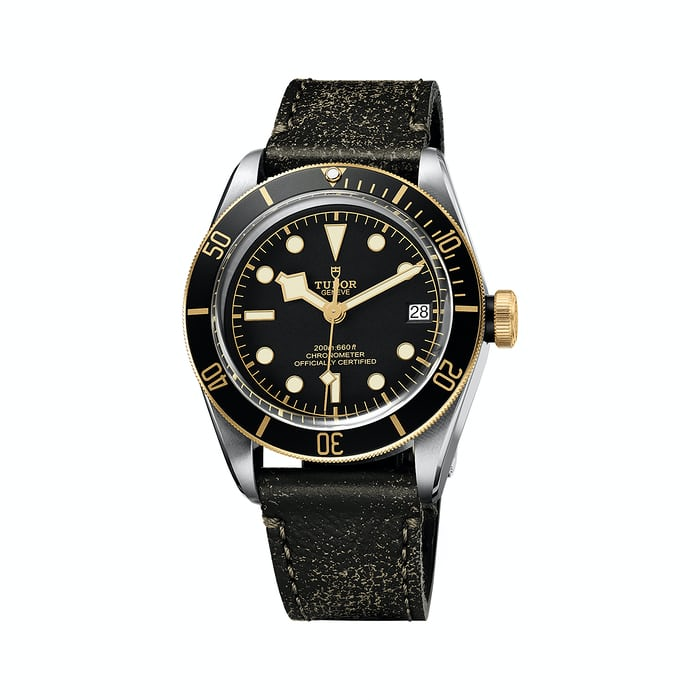 tudor black bay steel gold strap