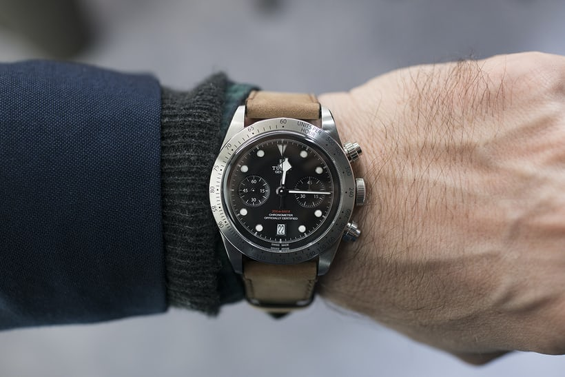 Tudor Black Bay Chrono wrist shot