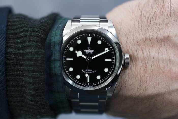 Tudor Black Bay 41 on wrist Baselworld 2017.