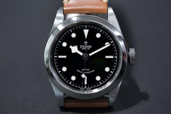 Tudor Black Bay 41 with leather strap Baselworld 2017.