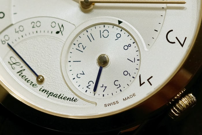 Slim d'Hermès L'Heure Impatiente time setting disc
