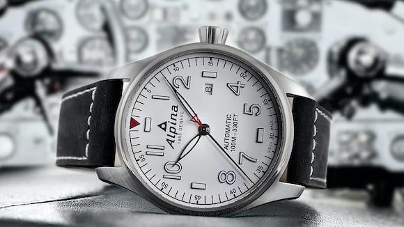 Alpina Startimer AL-525 white dial.