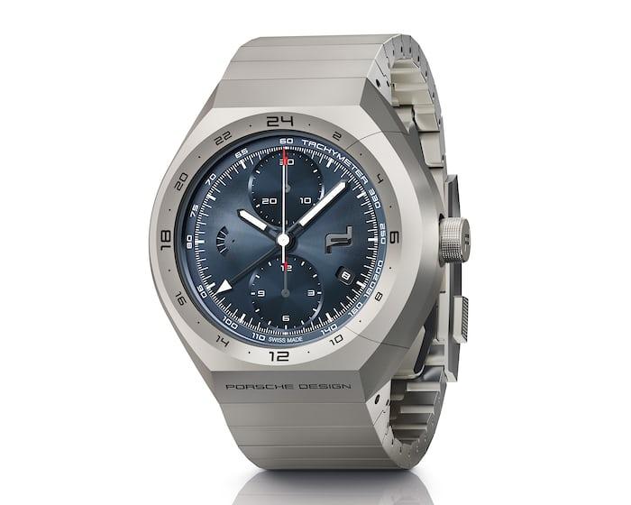 Porsche Design Monobloc Actuator GMT blue dial bracelet