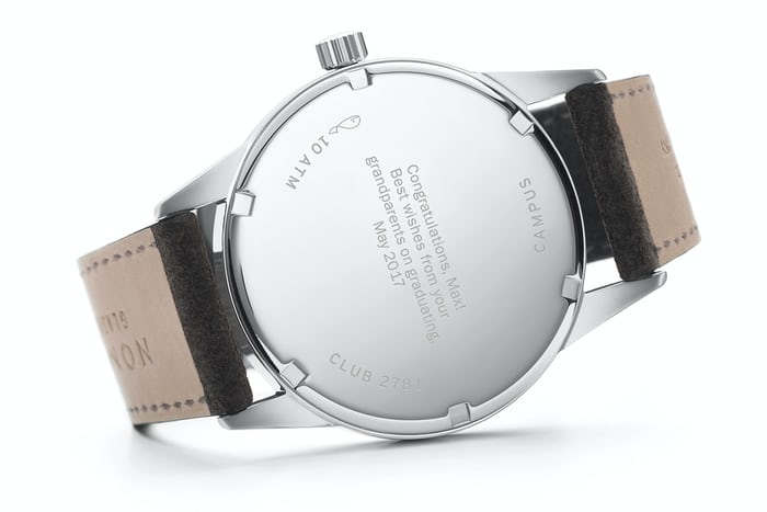 club campus nomos glashutte caseback engraving