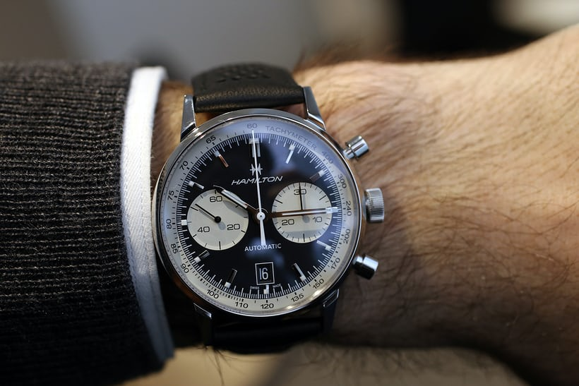 Hamilton Intra-Matic 68 Autochrono wristshot