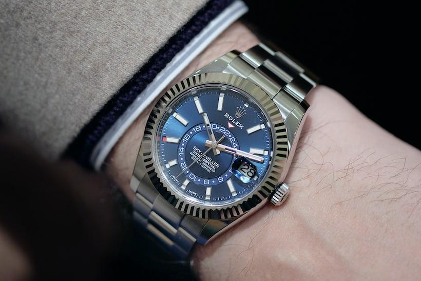 rolex sky dweller 326934 steel wristshot