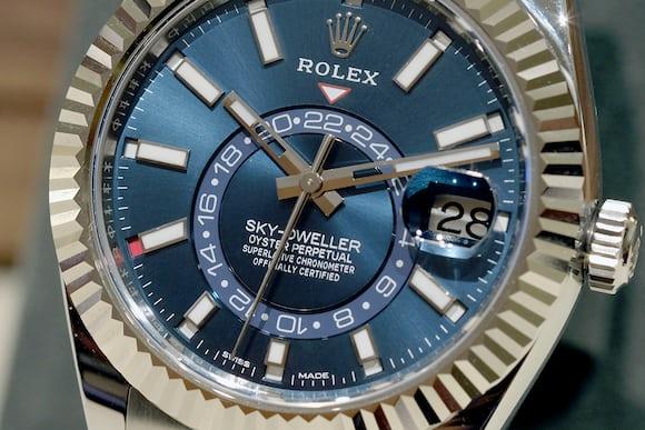 rolex sky dweller 326934 steel dial blue