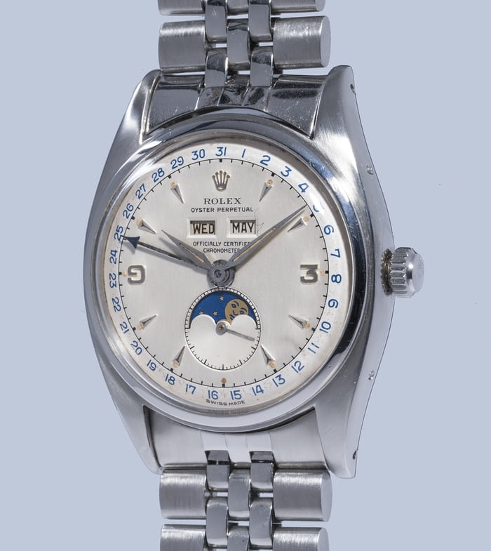 Rolex 6062 triple calendar stainless steel