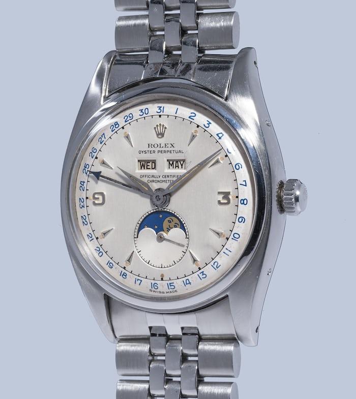 Rolex 6062 triple calendar stainless steel