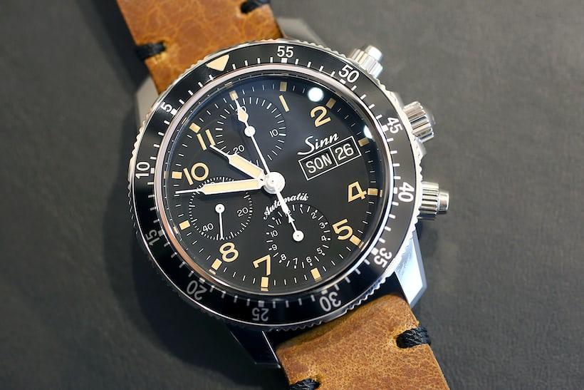 Sinn 103 St Sa E on leather strap.