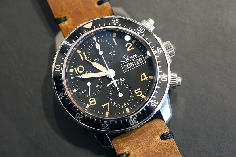 Sinn 103 St Sa E on leather strap.