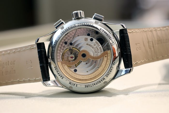 A view of the FC-760 made specifcially for Frederique Constant's collection.