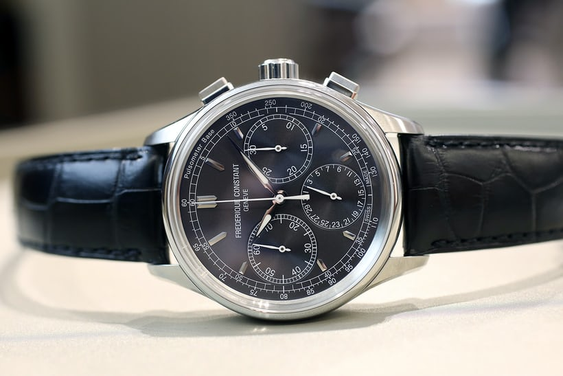 frederique constant manufacture chronograph flyback grey tachymeter