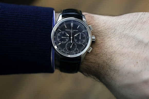 frederique constant manufacture chronograph flyback wristshot