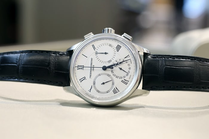 The Frederique Constant Flyback Chronograph Manufacture.