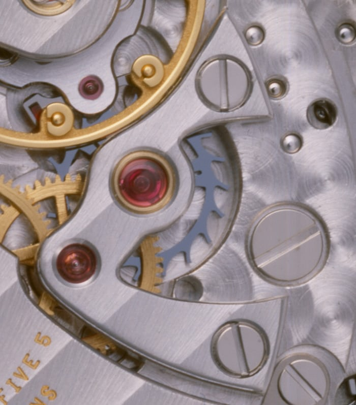 The first Patek Philippe silicon component: a Silinvar escape wheel.