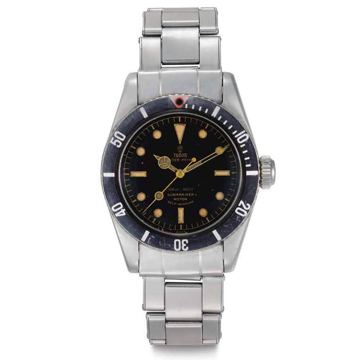 tudor submariner 7924 christies record