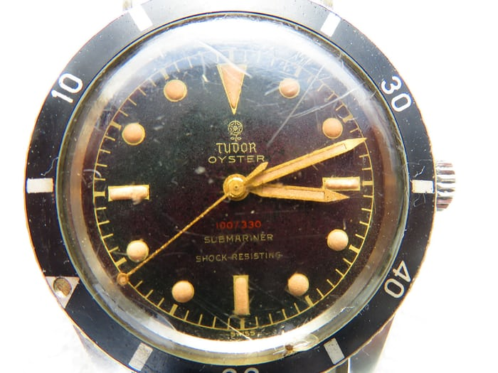 tudor watch submariner 7923 dial unpolished