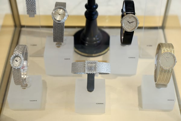 A selection of Vacheron Constantin models.