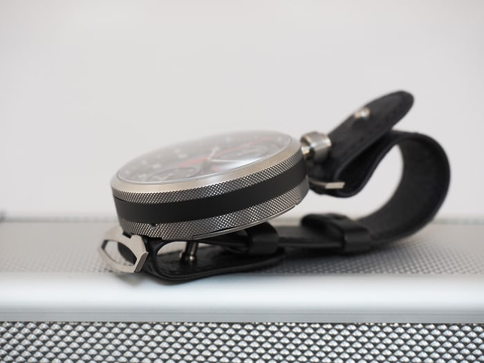 Montblanc Rally Timer 100 case flank