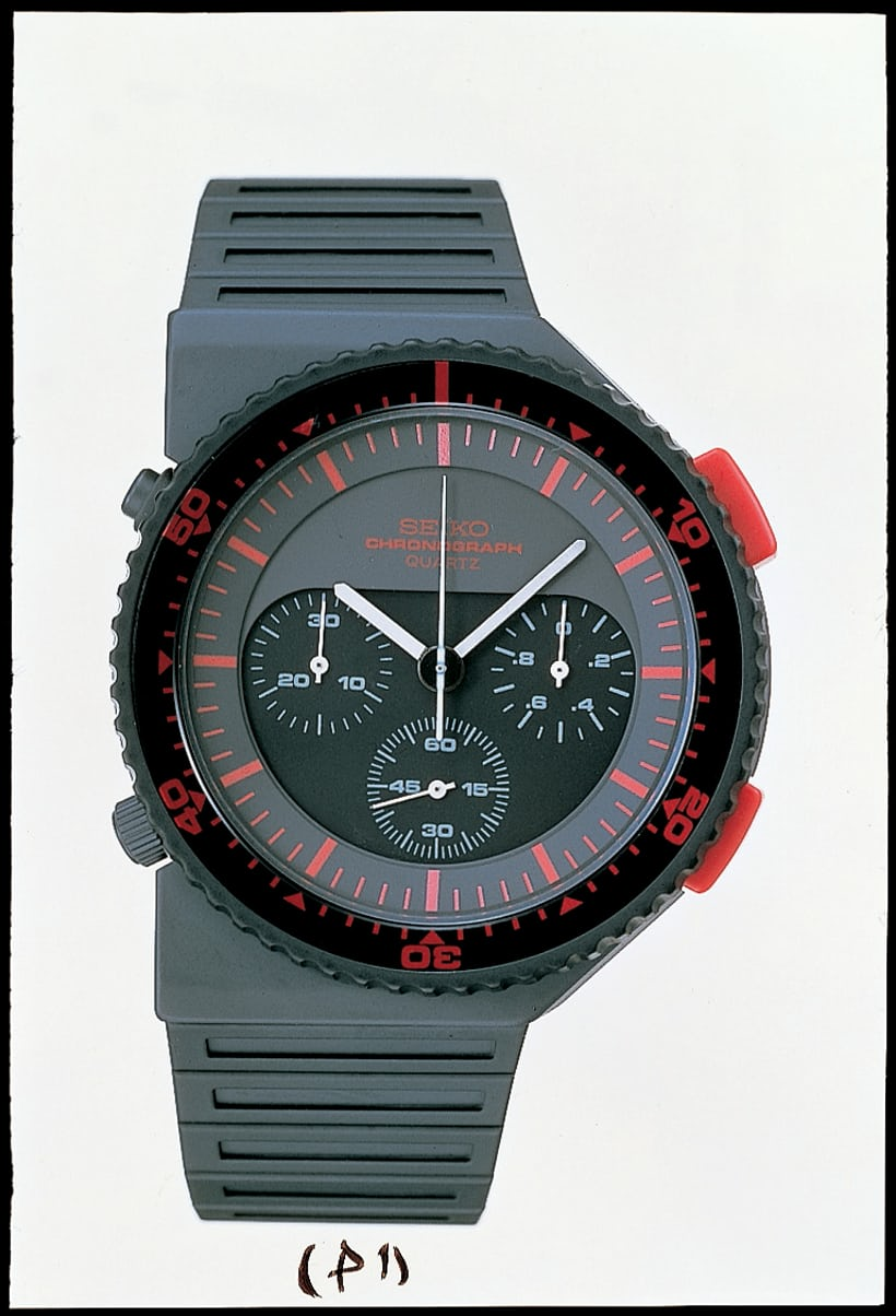 "Ref. 7A28-7000, 1983: the ""Bishop"" Giugiario chronograph."