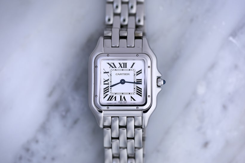 panthere de cartier medium steel